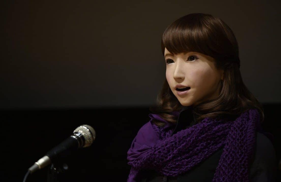 japon un andro de dot d 39 un programme de reconnaissance vocale pr sente un journal t l vis. Black Bedroom Furniture Sets. Home Design Ideas